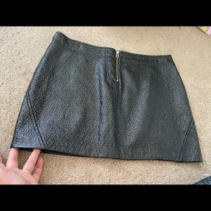 Black Leather ZARA Skirt
